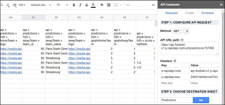 blog image IMPORT FOOTBALL DATA TO GOOGLESHEET